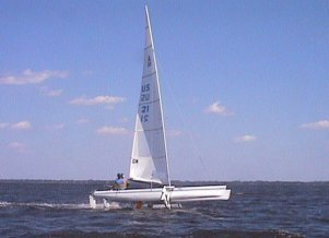 Dave Carlson's Sailing Hydrofoil Boat Named Catnip