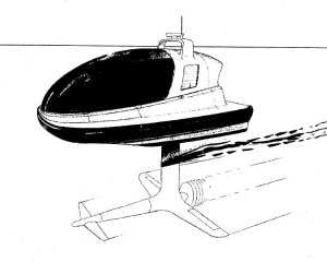 A variant of the one-person hydrofoil motorboat design
